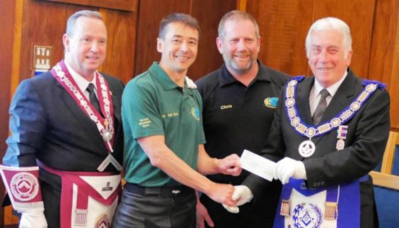 Dorset Masons DocBike donation for medical equipment