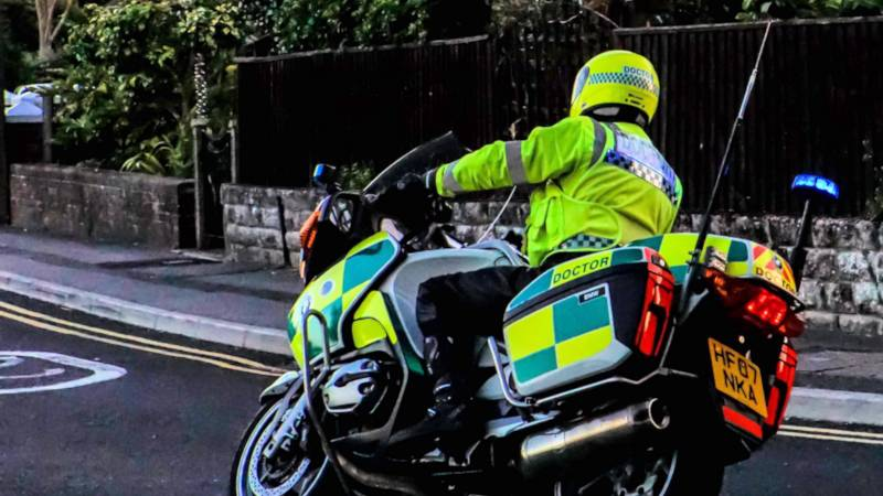 Dr Ian Mew passes police motorcycle test
