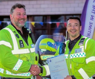 Police motorcycle test - Dr Ian Mew passes